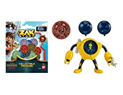 The Zak Storm Action Figure Treasure Pack includes a fully articulated action figure, one character treasure coin plus a blind bag of 4 additional collectible treasure to extend kids play When kids scan coins into the Zak Storm Super Pirate mobile ga...