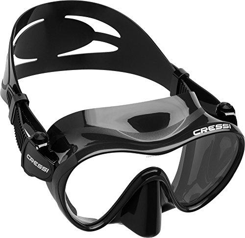 Cressi Tauchmaske Erwachsen F1 Dark Frameless Gafas de Buceo