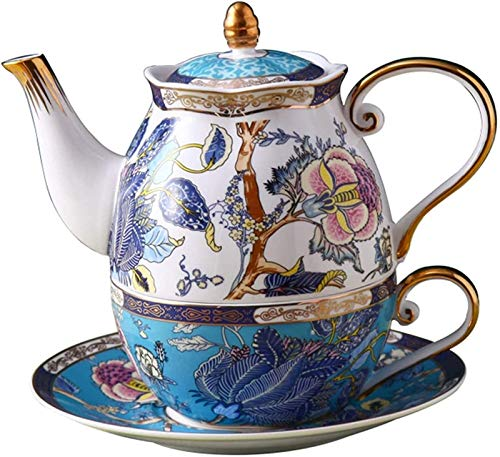 Cast Iron teapot Set One Set Floral Design Teaware Attractive Ceramics Tea Set Including Teapot and Teacup for Christmas and Birthday Gift Kitchen, Hotel Restaurant
