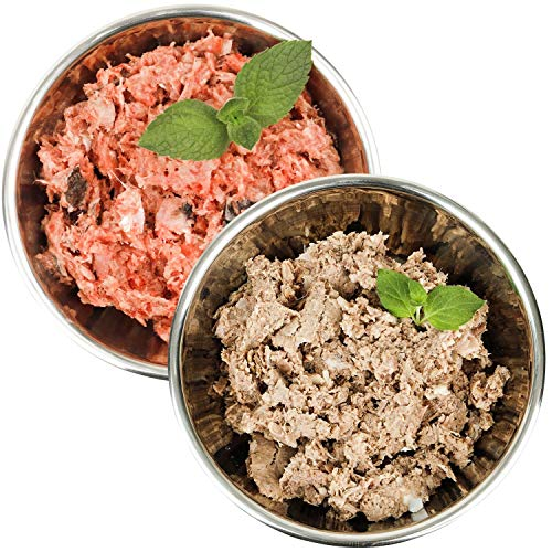 Barf-Snack Frostfutter - Sparpaket mit Fisch & Rind-Power-Mix Gefrierfutter/Rohfleisch für Hunde & Katzen