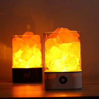 HRUIHKV Creative Salt Night Light Crystal Lamp Negative Ion Air Purifying Health Life Night Light for Home Aisle Bedroom Decoration