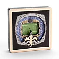 YouTheFan NFL New Orleans Saint- Mercedes-Benz Superdome 3D StadiumView Magnet3D StadiumView Magnet, Team Colors, Small (8493434)