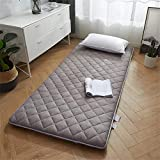 HXDP Colchón de futón de Piso Algodón colchón de Tatami Antideslizante Estera de colchón Plegable colchón Suelo Estudiante Dormitorio Colchoneta de Dormir