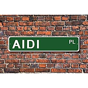 Ditooms AIDI Gift AIDI Sign Dog Lover Gift Yard Fence Driveway Street Sign Indoor Outdoor Decorative 26