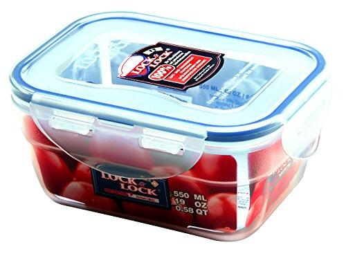Lock&Lock Frischhaltebox | Vorratsdose | Gefrierdose | 550 ml | ineinander schachtelbar | HPL311-6er Set