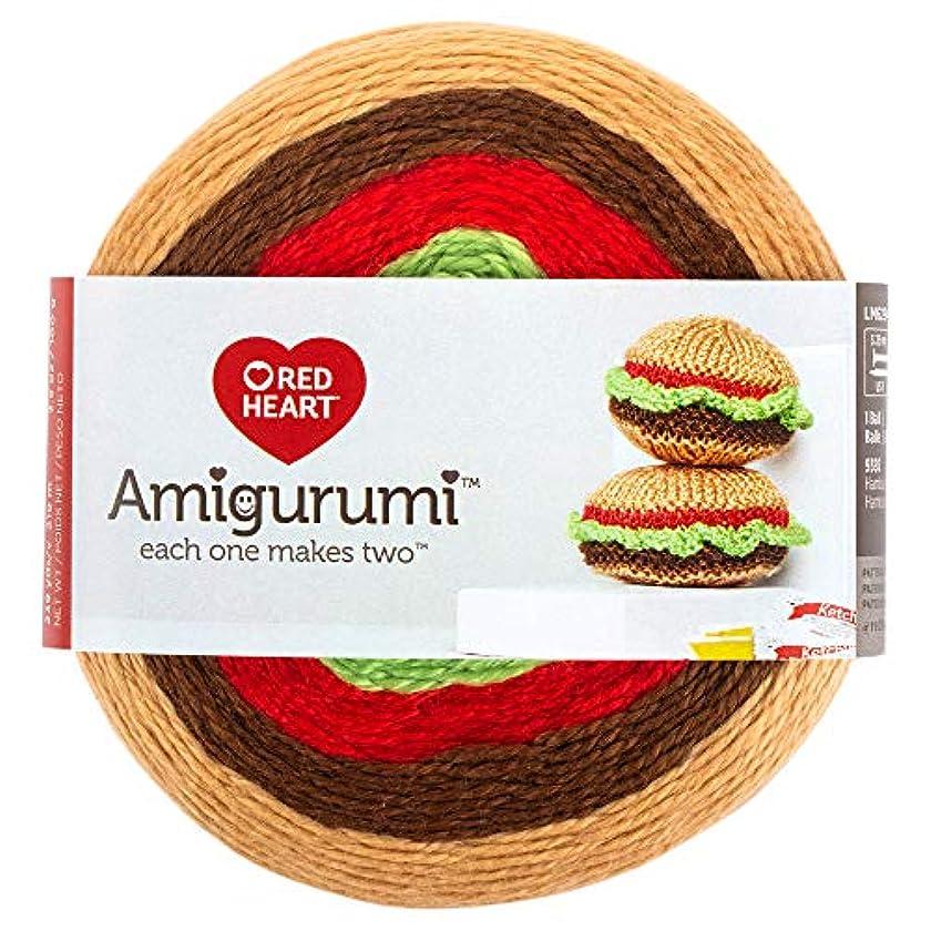 RED HEART E885. 9392? Amigurumi Yarn Hamburger