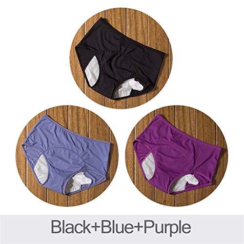 Ybqy 3 stks lek bewijs menstruatie slipje fysiologische broek vrouwen ondergoed periode katoen waterdichte slip