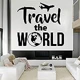 Agencia de viajes Viaje de vuelo Viajes por todo el mundo El mundo Turismo de vacaciones Vinilo Etiqueta de la pared Calcomanía para automóvil Niño Niños Dormitorio Oficina Club Decoración para e