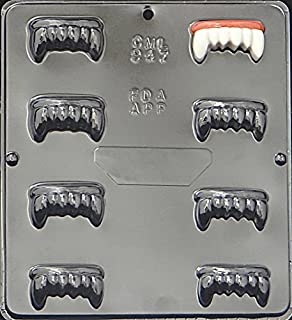 Candy Molds N More Dracula Vampire Teeth Chocolate Candy Mold, Item 947