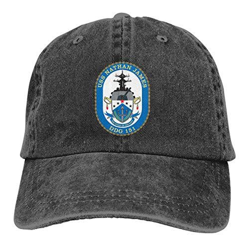 USS Nathan James Unisex Adult Denim Hats Cowboy Hat Dad Hat Driver Cap