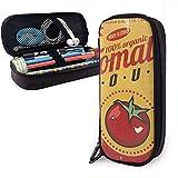 Sopa De Tomate Letrero De Metal Vintage Estuche De Lápices Estuche De Cuero Bolsa De Lápices De Gran Capacidad Bolsa Estuche Para Lápices