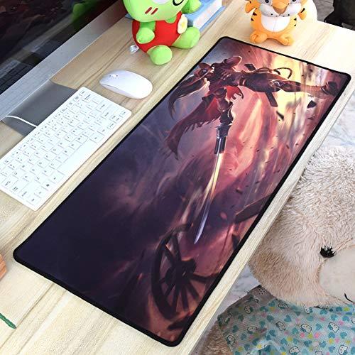 CSQHCZS-SBD Muizenpad, Alliance, gaming-beer toetsenbord, tafelkleed, oversized anti-slip basis en genaaide randen, laser en optische muis compatibel ++++ +