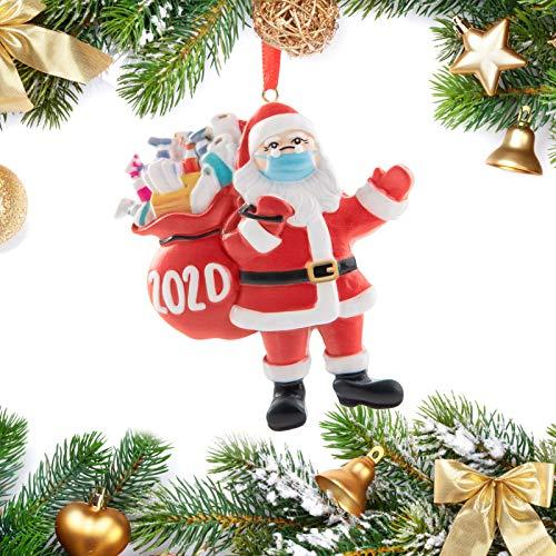 Ehunt 2020 Christmas Ornament, Santa Decorative Hanging Ornaments, Personalized Decorating, Xmas Ornament 2020, Indoor Outdoor Creative Gifts for Family Members (Santa - 1 Pack)