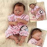 ZIYIUI 20 Pulgadas 50 cm Bebe Reborn de Silicona Suave para bebés en sueño Cerrado Hecho a Mano Regalo de cumpleaños para bebés recién Nacidos Bebe Reborn