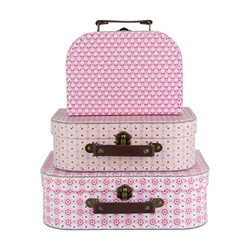 Sass & Belle Spring Retro Daisy Suitcases - Set of 3