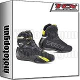 TCX Scarpe Stivali Moto 9505W Rush Waterproof Nero Giallo Fluo tg 41/8