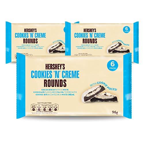 Hersheys Cookies n Creme Rounds Kekse, Kakaogebäck, Schokokekse, Cookies, 3 x 96 g, 1038000