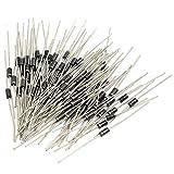 ExcLent 100 Stücke 1N4001 1A 50 V Diode Praktisch für Heimwerker- und Reparaturgeräte sowie Elektrogeräte