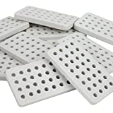 Home Hardware Specialty Flame Tamer Ceramic Grill Brick Set For Gas and Electric Grills. Set of 30