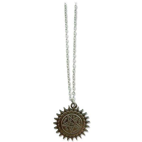 Black Butler Pentagram Metal Necklace