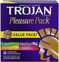 Trojan Pleasure Variety Pack Lubricated Condoms - 36 Count (Packaging May Vary)