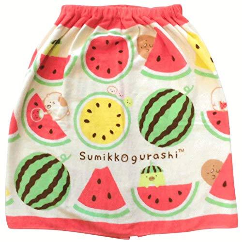 すみっコぐらし 「まぁるいきゅうり」 プールスカート 60×120cm ラップタオル 巻きタオル