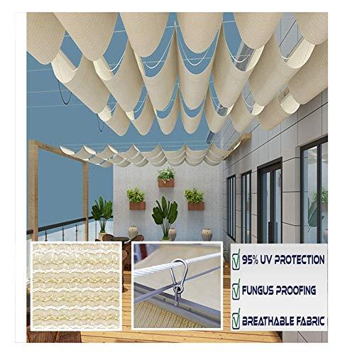 GDMING Rétractable Voile D'ombrage Toit Vague Canopée Protection UV Slide Wire Extensible Extérieur pour Toit Patio Belvédère 2020 Version Mise À Jour Polyester, 30 Tailles
