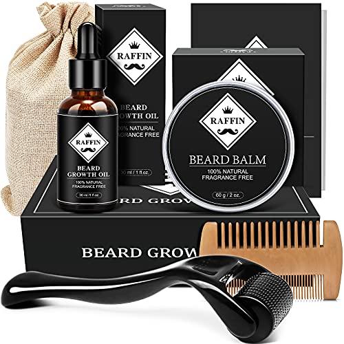Beard Growth Kit Mens Gifts, Beard Kit with Beard Roller...