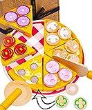 Jaques von Londoner Pizza-Party Holzspielzeug Küche Kinder – Lebensmittel und Küchenspielzeug mit Mehrfachnutzen Spielen - Holzspielzeug , Montessori Spielzeug , Spielzeug ab 3 4 5 6 Jahre seit 1795