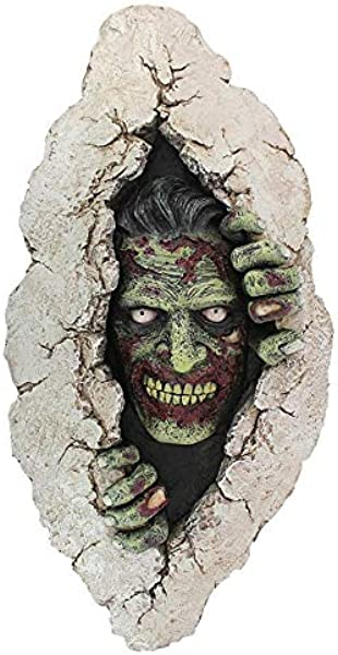 Design Toscano Zombie Breakout Wall Sculpture 18 Inch Full Color