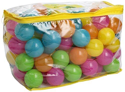 Bieco 22000520 100 pastelkleurige ballen, Circa 6 cm, meerkleurig, 6x6x6