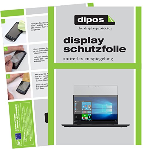 dipos I 2X Schutzfolie matt kompatibel mit Lenovo ThinkPad T570 Folie Bildschirmschutzfolie