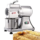 Commercial Electric Food Cheese Shredder Grater 0.75HP 550W with Stainless Steel Blade for Cheese & Bread, Hard Chocolate, Ginger, Garlic