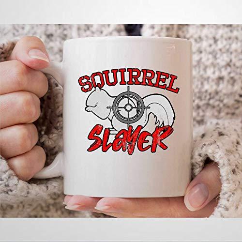 Taza de café con diseño de ardilla de caza de ardillas para cazadores, regalos para hombres, ardillas, tiro, taza de té para papás