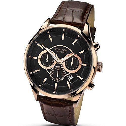 Mens Sekonda Stainless Steel Chronograph Watch 1178