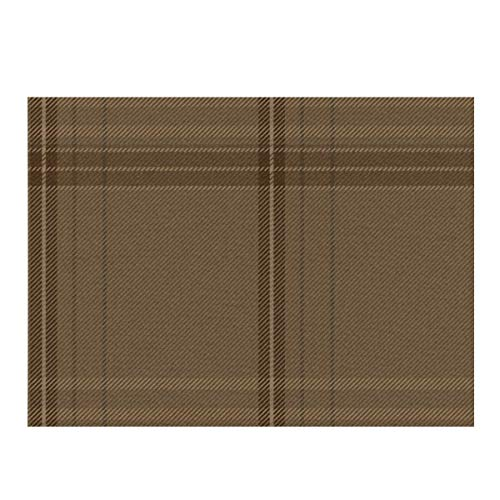 Dish Drying Mat,New Ancient Plaid In Weathered Brown Absorbent Reversible Microfiber Mat Dish Dry Pad Protector for Kitchen Countertop 12x16inch