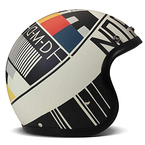 DMD Vintage No Signal weiß Open Face Helm Jethelm Motorradhelm mehrfarbig, XL