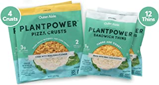 Outer Aisle Cauliflower Sandwich Thins - Low Carb, Gluten Free, Paleo Friendly, Keto … (OAG Originals, Pack of 4)