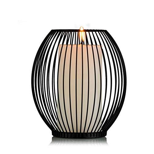 Sziqiqi Moderner einfacher Eisenkerzenstand, romantische Hochzeit kreative Kerzenständer, Romantisches Abendessen Haus Deko, 16cm×18cm