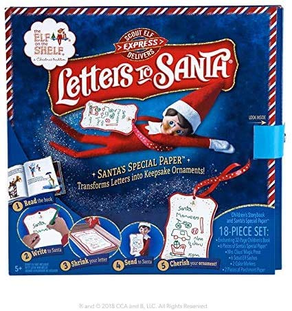 Scout Elf Express Delivers Letters To Santa Pack | Magic Shrinking Paper | Best Elf on the Shelf Accessory | Santa Letter Writing Kit
