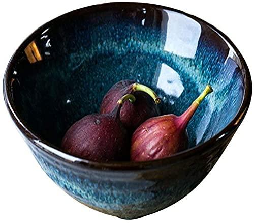 ZCRR Frutta Ciotole Stile Nordico Blu Porcellana Stoviglie Bone China Ciotole Cinese Vintage Ramen Ciotole Riso Contenitore 18x9cm