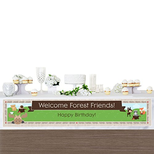 Big Dot of Happiness Woodland Creatures - Happy Birthday Decorations Party Banner