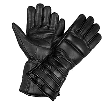 Men s Genuine Sheep Leather Winter Street Cruiser Motorcycle Thermal Gloves L