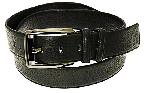 """Neptune Giftware Pour des hommes en cuir véritable ceinture noire en boîte-cadeau - Convient à la taille environ 28-31"""""""