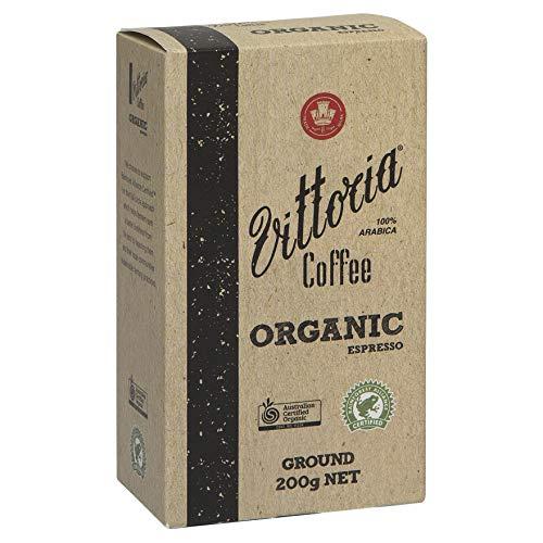 Vittoria Coffee Ground Organic Espresso, 7-Ounce