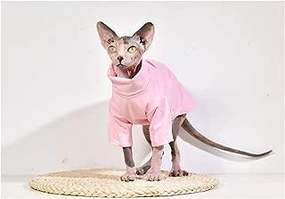 DENTRUN Hairless Cats Shirt Cat Wear Turtleneck Cat Designer Warm Clothes, Sweater Best Hairless Cat's PHijama Clothes Cat's Pajamas Jumpsuit Cat