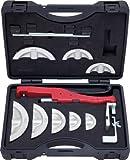 KS Tools 203.1400 Serie di Curvatubi a Cricco Manovrabili con Una Sola Mano, 10-22 mm, 13 Pezzi