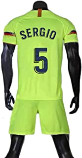 Sergio Busquets #5 Men's Soccer Jersey Set-Breathable, Quick Drying