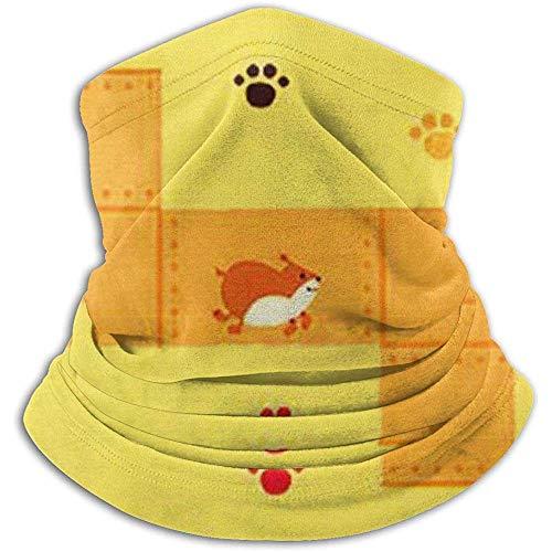 NA Meerschweinchen Fleece Halswärmer - Reversible Hals Vielseitigkeit Ohrenwärmer Stirnband Maske für Männer und Frauen