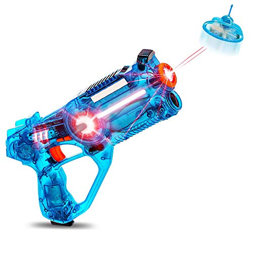 Boxgear Kids Laser Tag Gun Set with Flying Drone | Target Lazer Guns Tags Shooting with 130-feet Firing Range & 4 LED Firing Modes for Boys Ages 4-10 & Teens | Set of 1